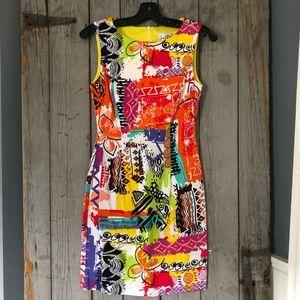 Joseph Ribkoff Sleeveless Printed Dress